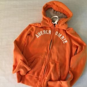Abercrombie & Fitch Orange Hoodie